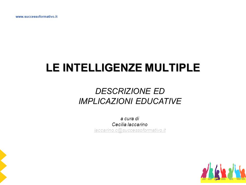 LE INTELLIGENZE MULTIPLE