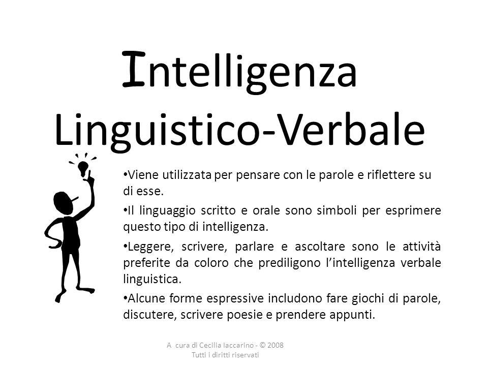 Intelligenza Linguistico-Verbale