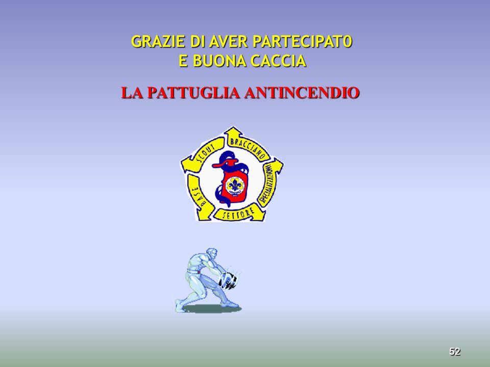 GRAZIE DI AVER PARTECIPAT0 LA PATTUGLIA ANTINCENDIO