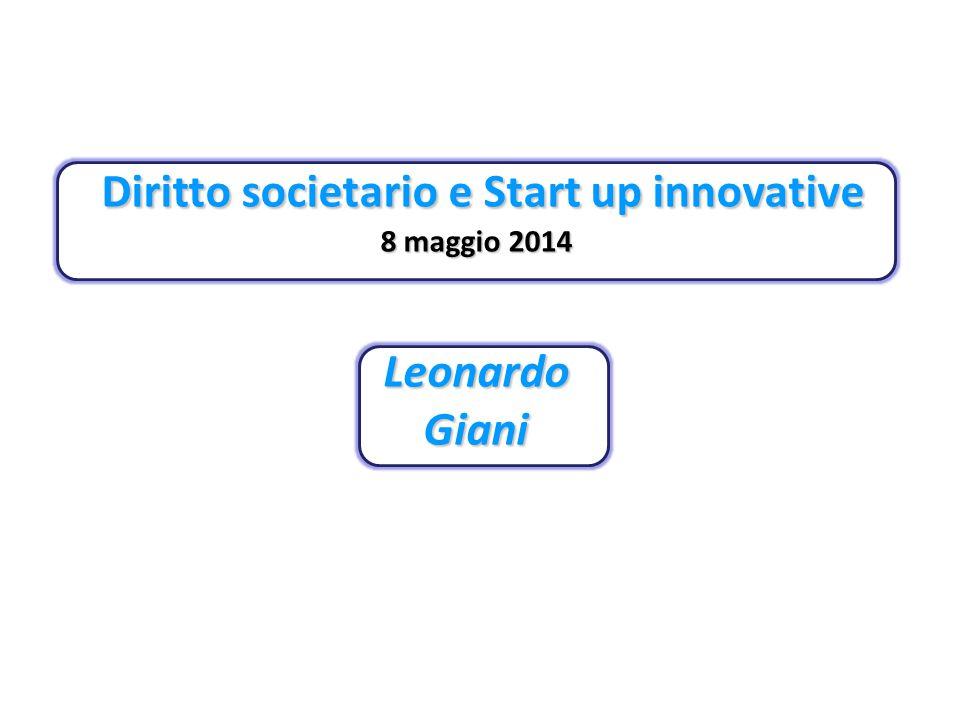 Diritto societario e Start up innovative