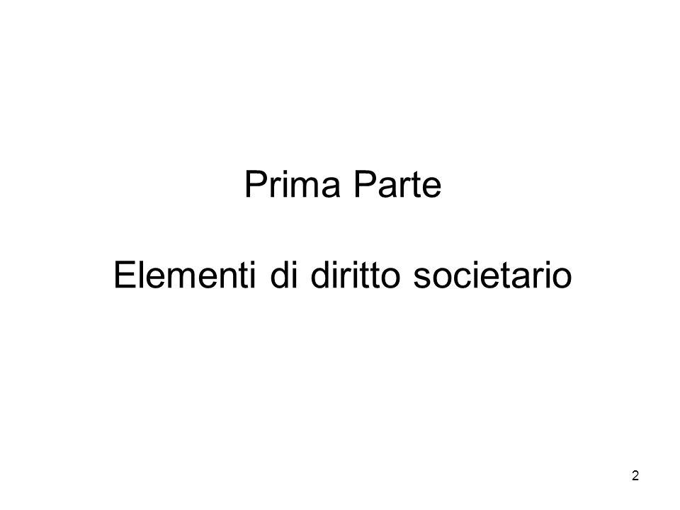 Prima Parte Elementi di diritto societario