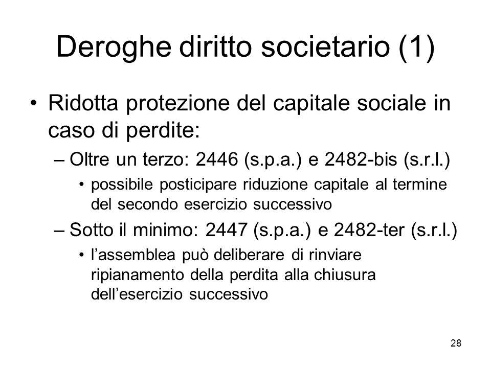 Deroghe diritto societario (1)