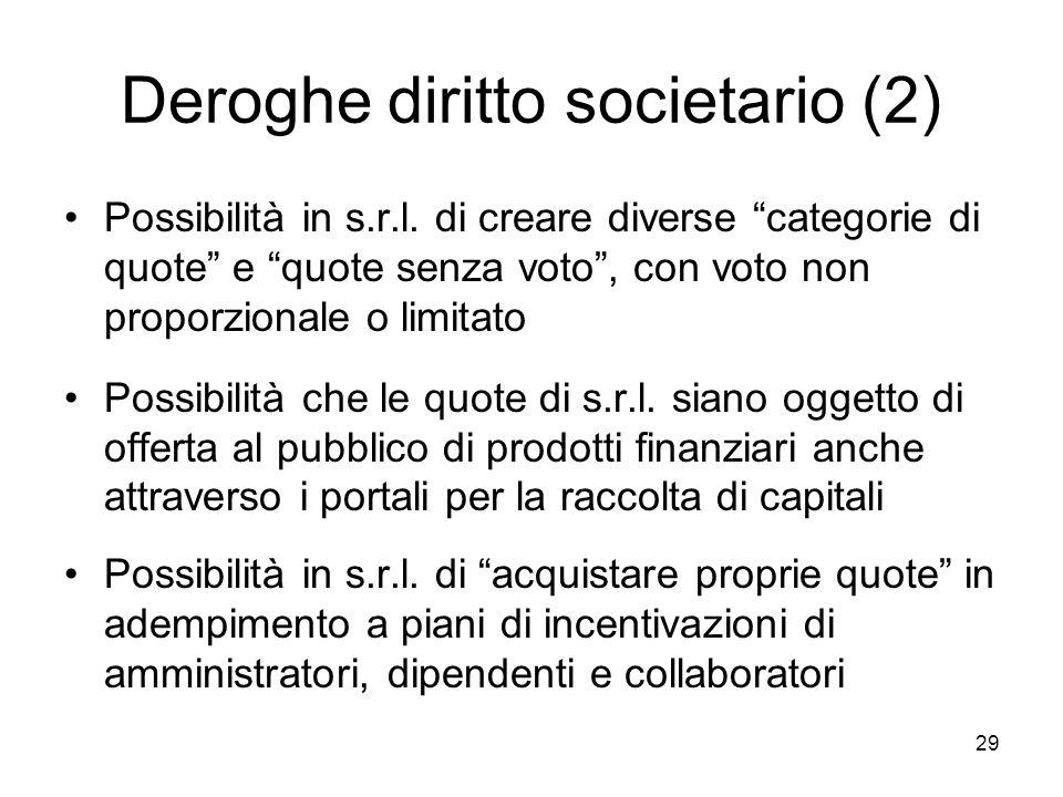Deroghe diritto societario (2)