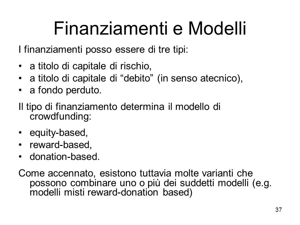 Finanziamenti e Modelli