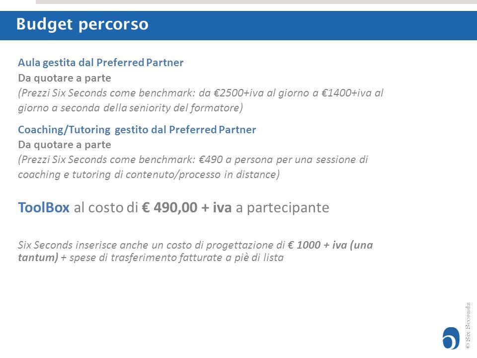 ToolBox al costo di € 490,00 + iva a partecipante