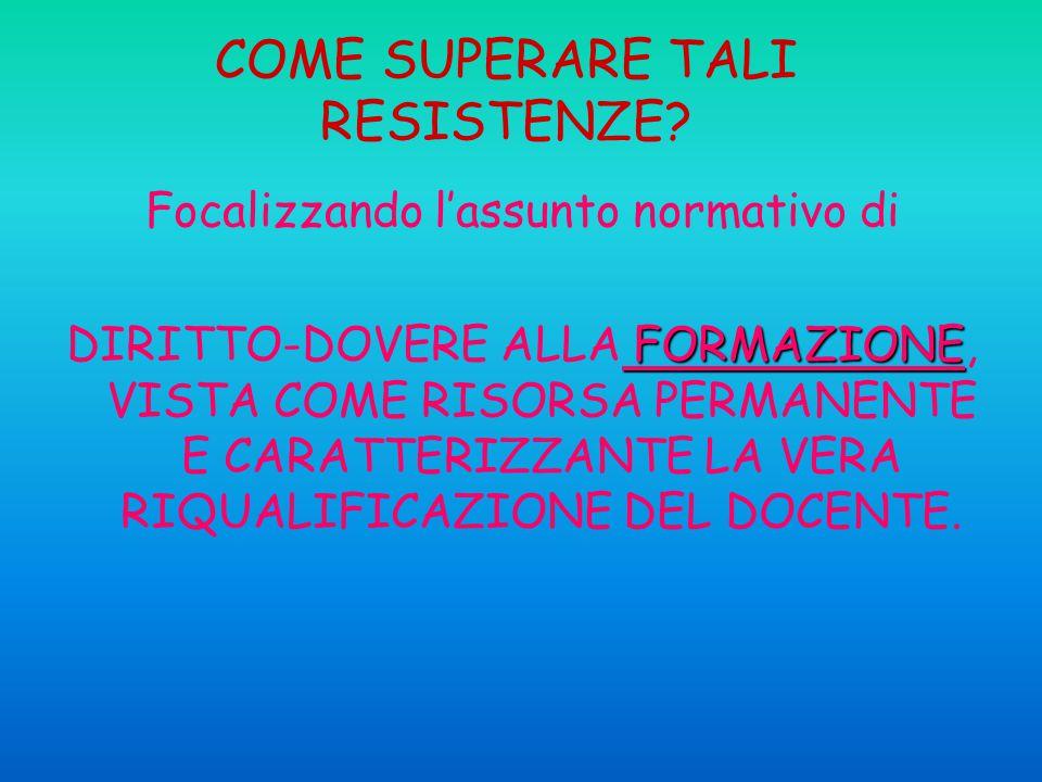 COME SUPERARE TALI RESISTENZE