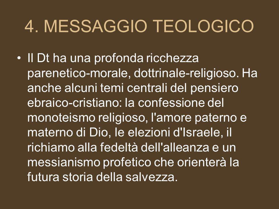 4. MESSAGGIO TEOLOGICO
