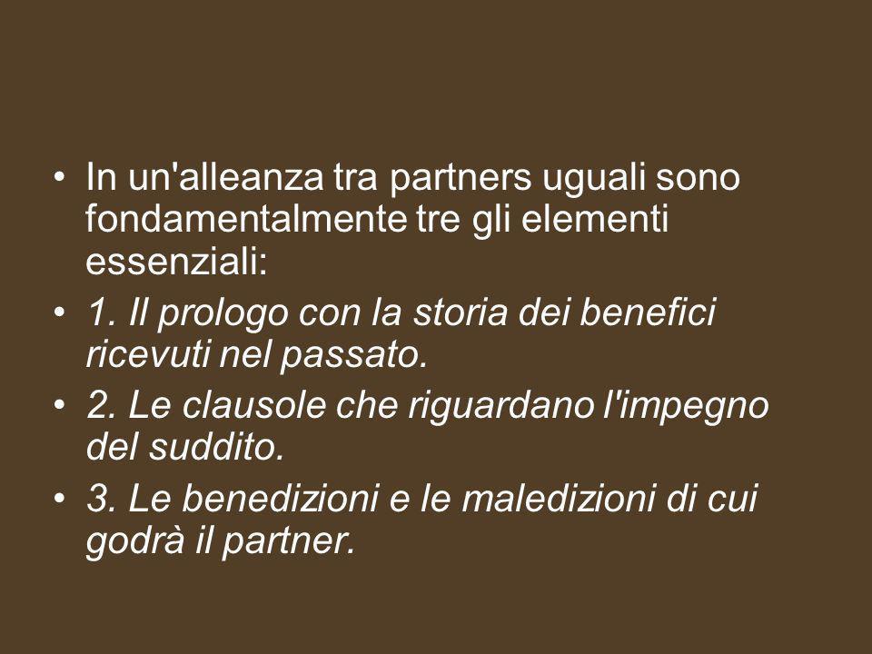 In un alleanza tra partners uguali sono fondamentalmente tre gli elementi essenziali: