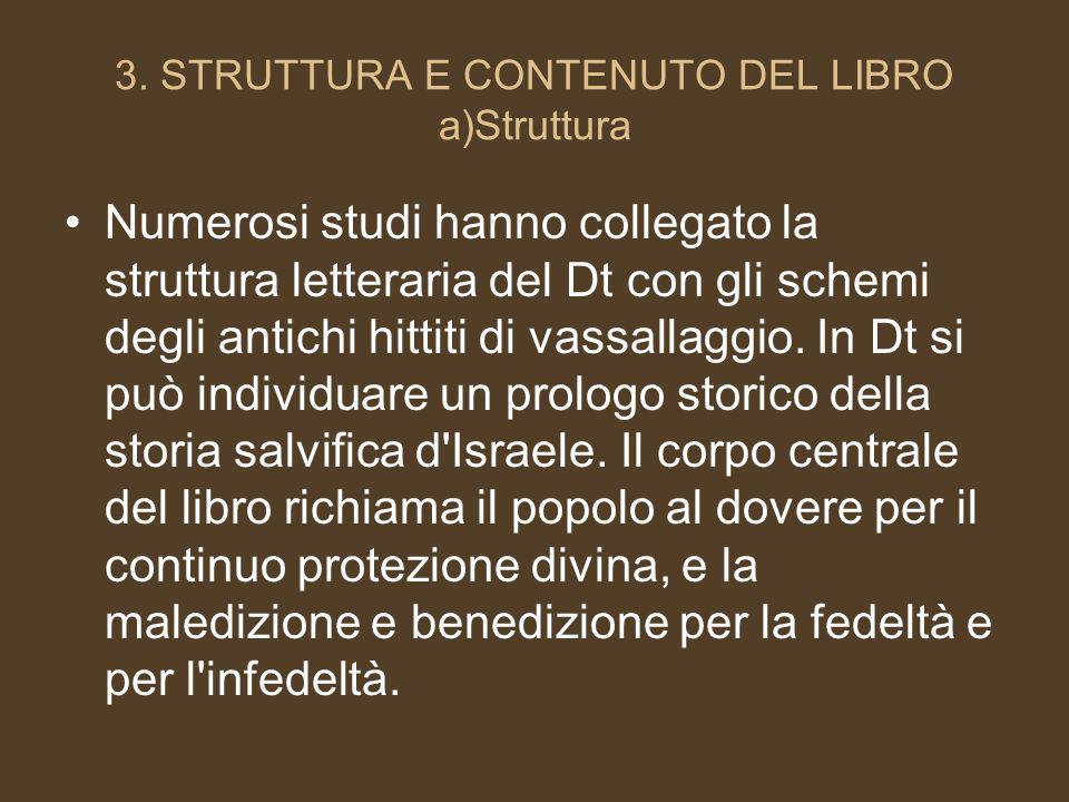 3. STRUTTURA E CONTENUTO DEL LIBRO a)Struttura