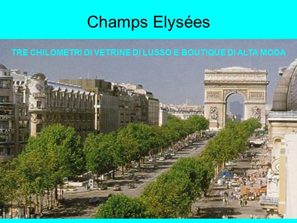 Champs Elysées TRE CHILOMETRI DI VETRINE DI LUSSO E BOUTIQUE DI ALTA MODA