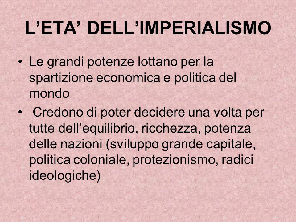 L'ETA' DELL'IMPERIALISMO