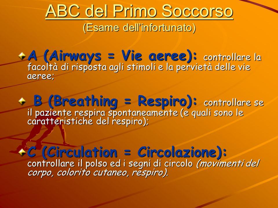 ABC del Primo Soccorso (Esame dell'infortunato)