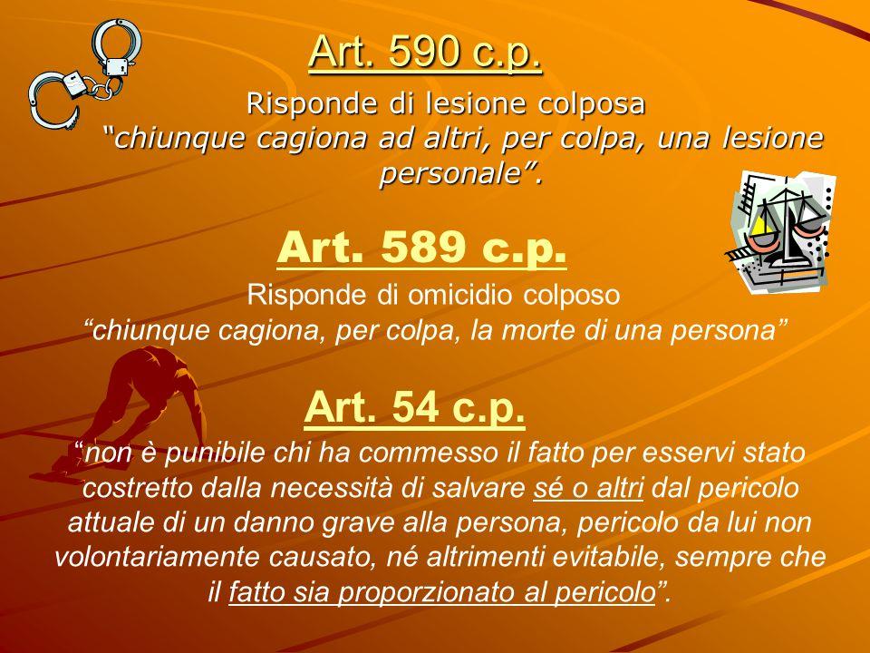 Art. 590 c.p. Risponde di lesione colposa chiunque cagiona ad altri, per colpa, una lesione personale .