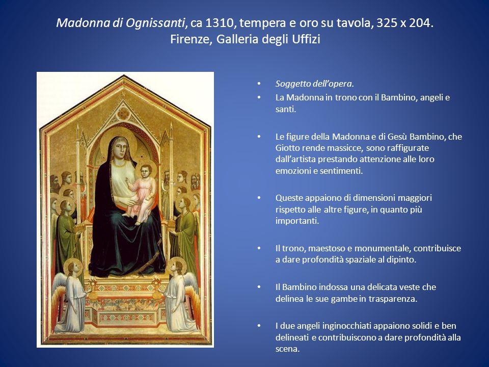 Madonna di Ognissanti, ca 1310, tempera e oro su tavola, 325 x 204