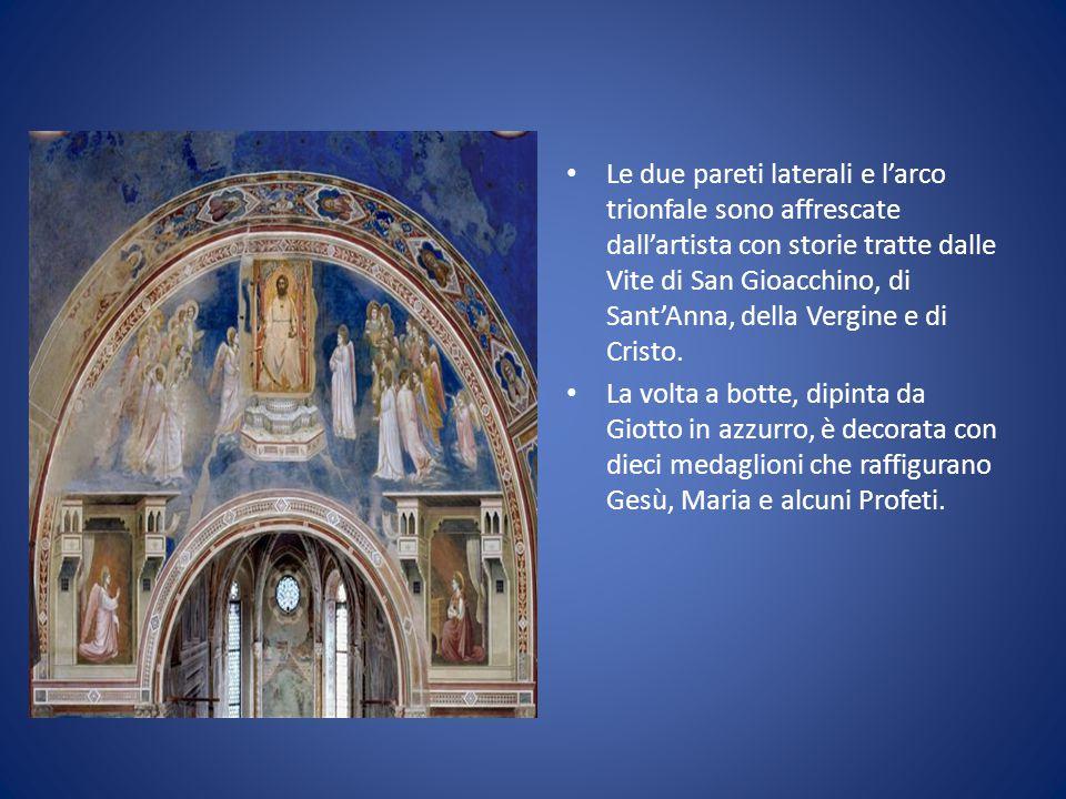 Le due pareti laterali e l'arco trionfale sono affrescate dall'artista con storie tratte dalle Vite di San Gioacchino, di Sant'Anna, della Vergine e di Cristo.