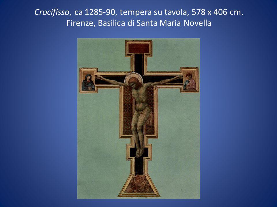 Crocifisso, ca 1285-90, tempera su tavola, 578 x 406 cm
