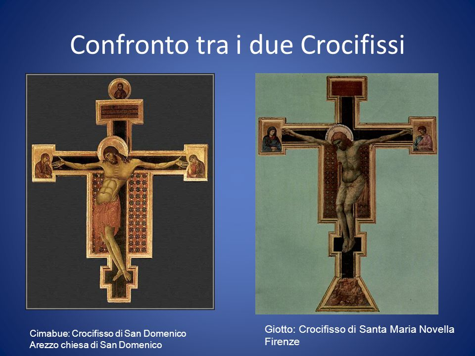 Confronto tra i due Crocifissi
