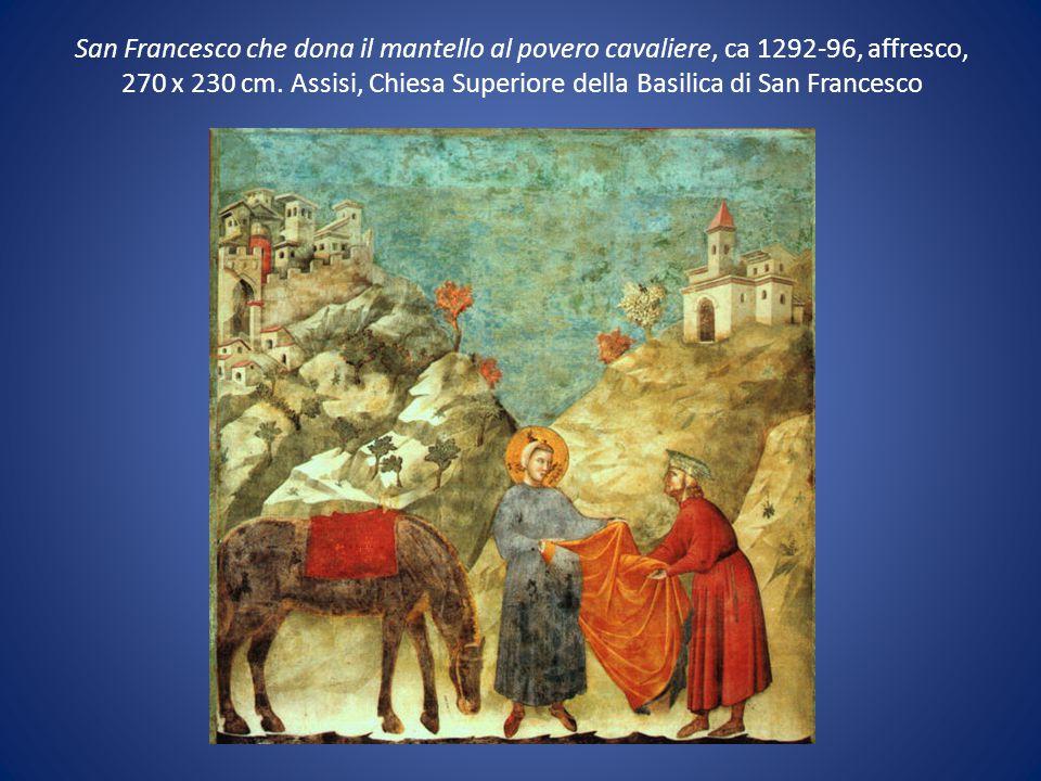 San Francesco che dona il mantello al povero cavaliere, ca 1292-96, affresco, 270 x 230 cm.