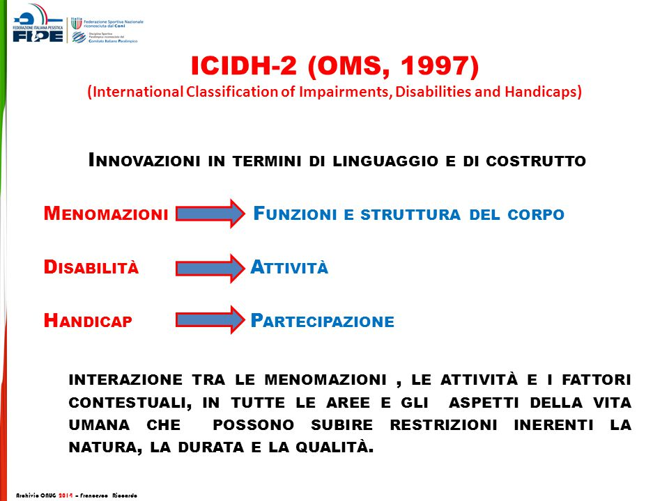 ICIDH-2 (OMS, 1997) (International Classification of Impairments, Disabilities and Handicaps)