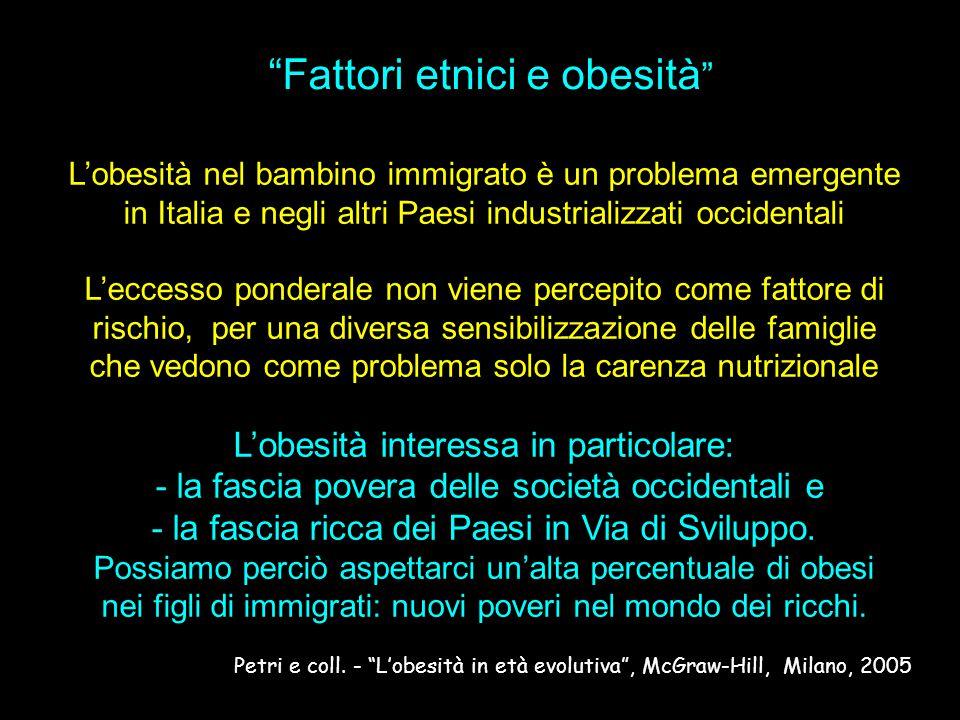 Fattori etnici e obesità