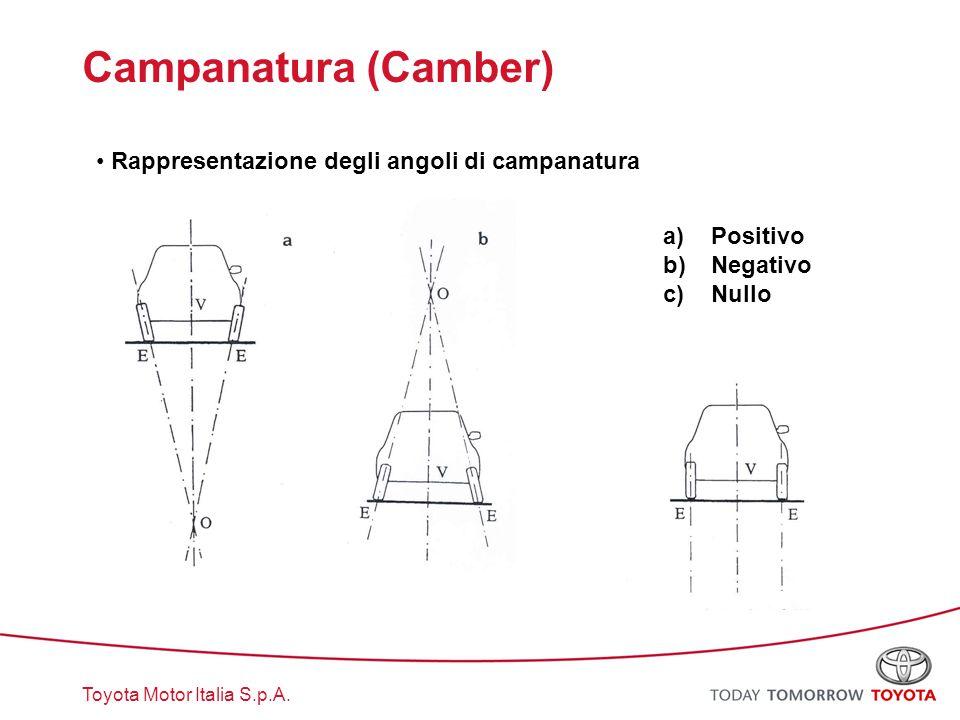 Campanatura (Camber) Rappresentazione degli angoli di campanatura