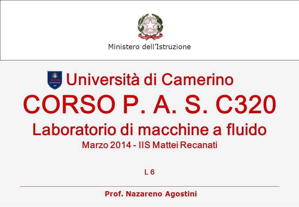 CORSO P. A. S. C320 Università di Camerino