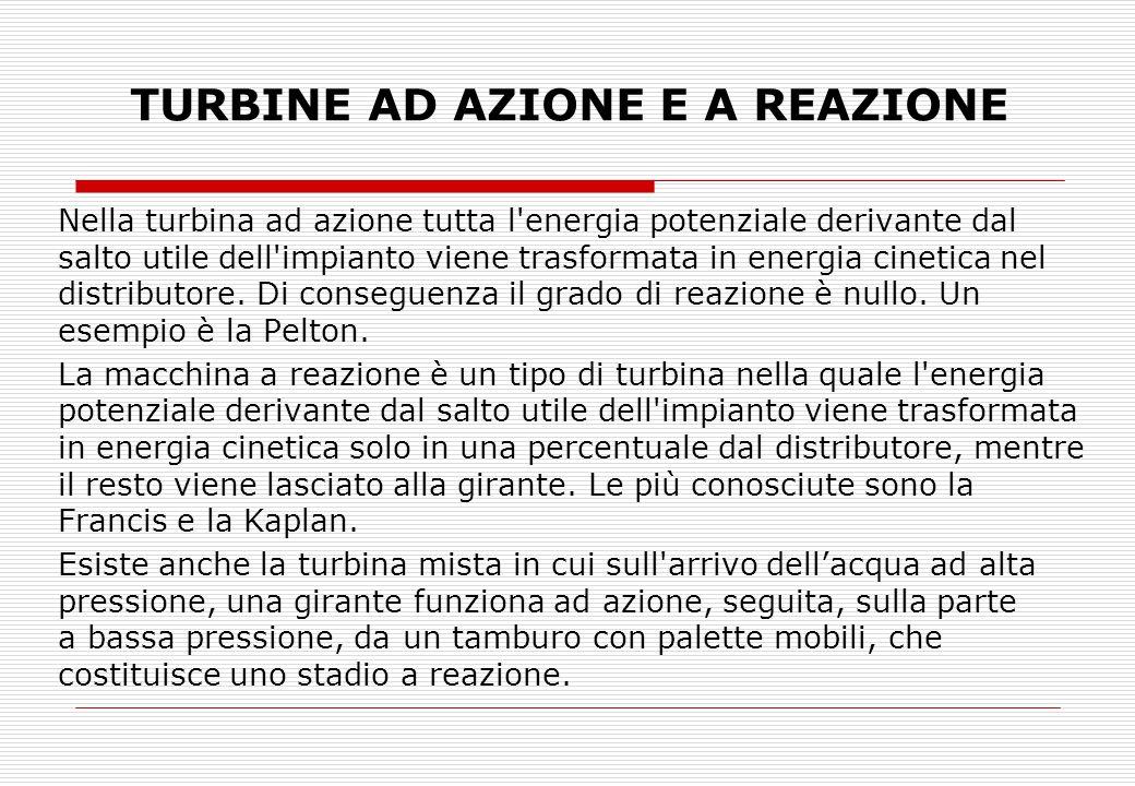 TURBINE AD AZIONE E A REAZIONE