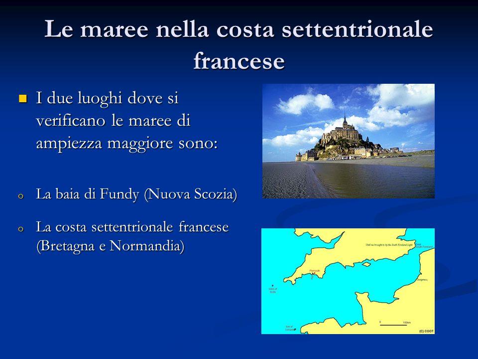 Le maree nella costa settentrionale francese