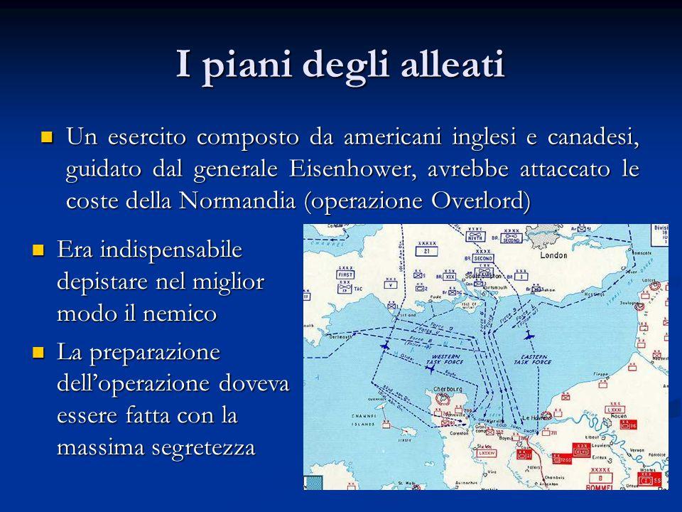I piani degli alleati