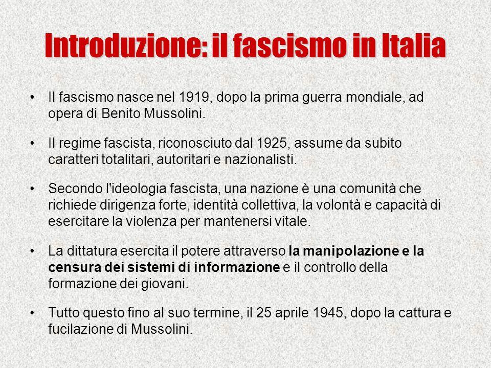 Introduzione: il fascismo in Italia