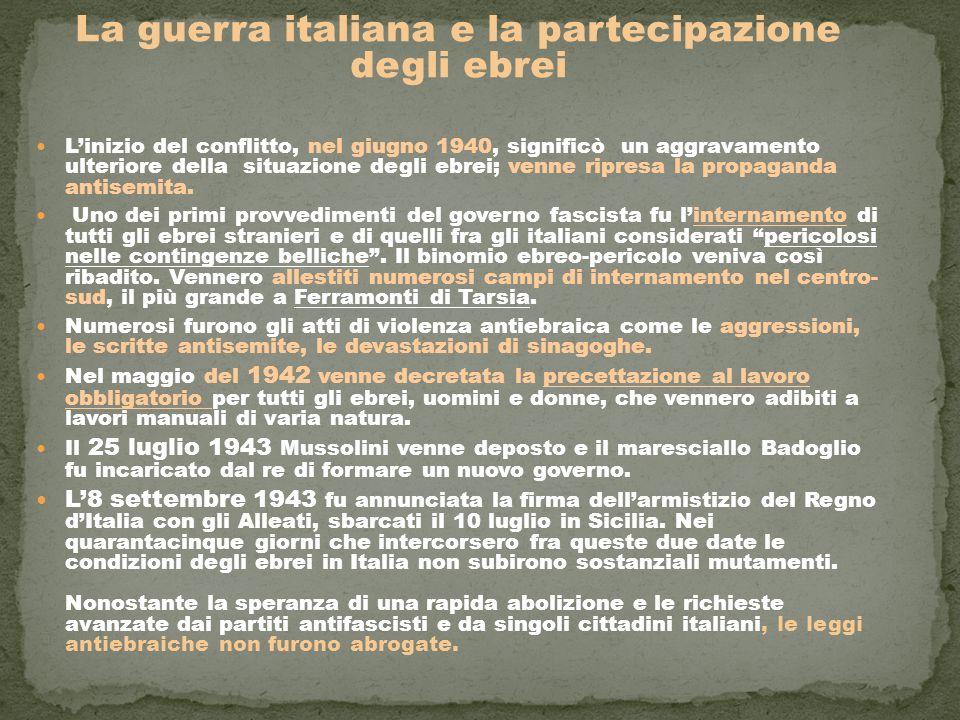 La guerra italiana e la partecipazione degli ebrei
