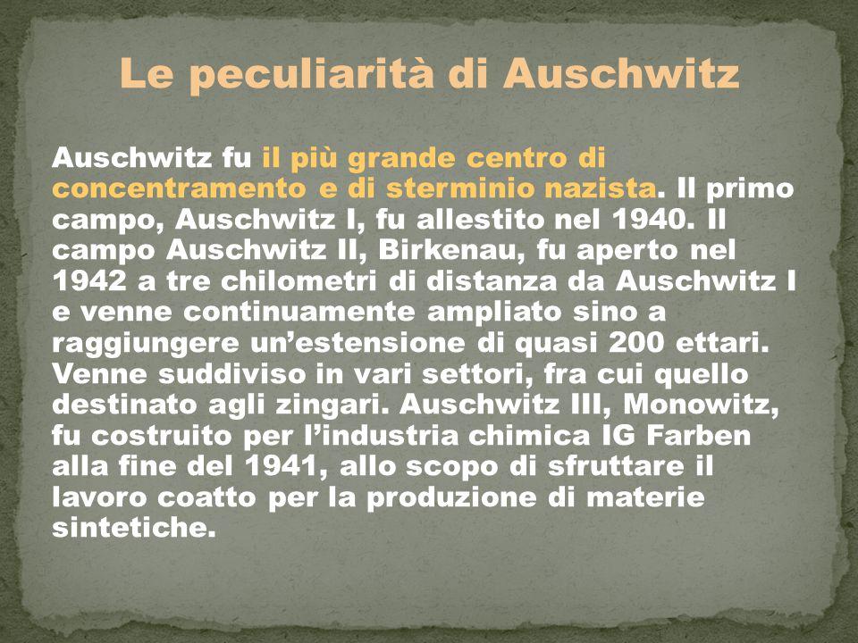 Le peculiarità di Auschwitz