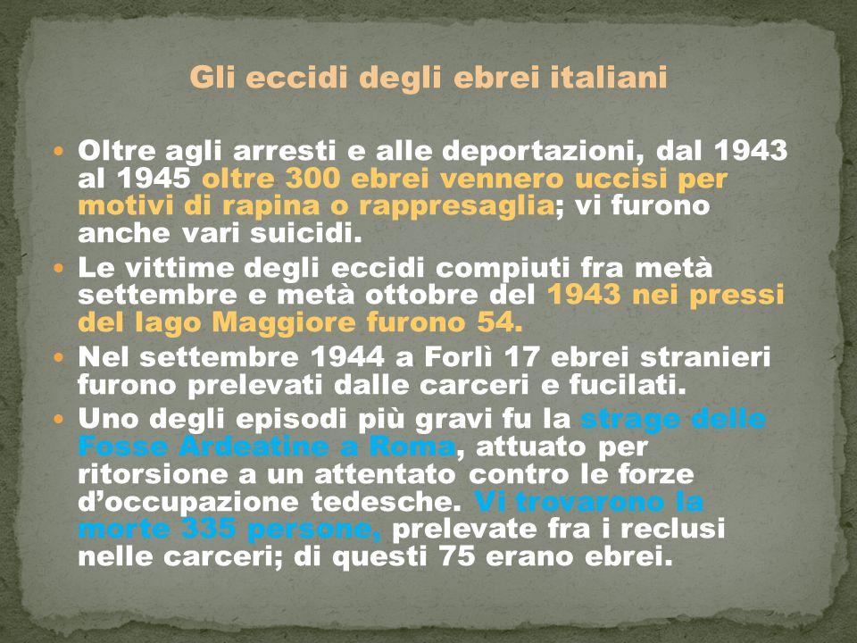 Gli eccidi degli ebrei italiani