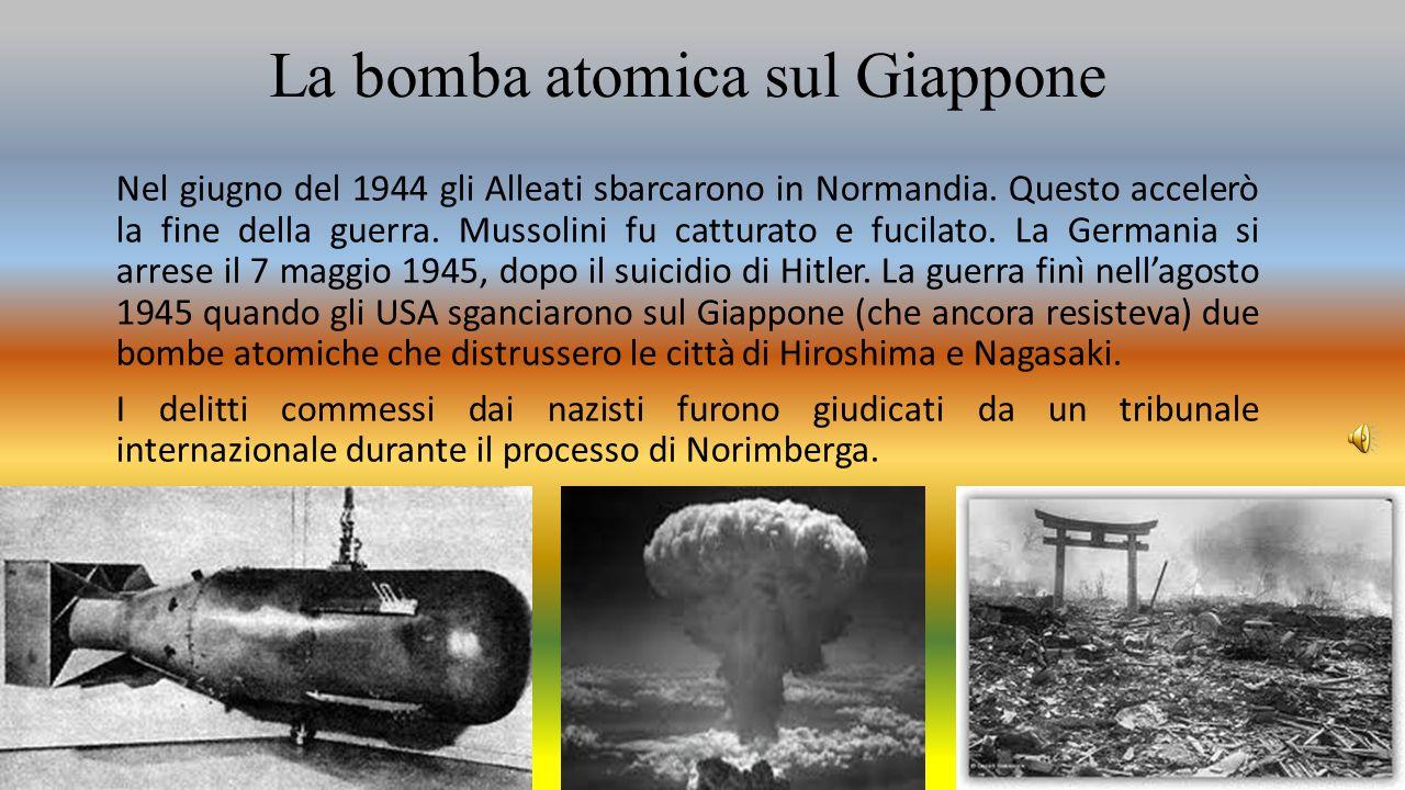 La bomba atomica sul Giappone