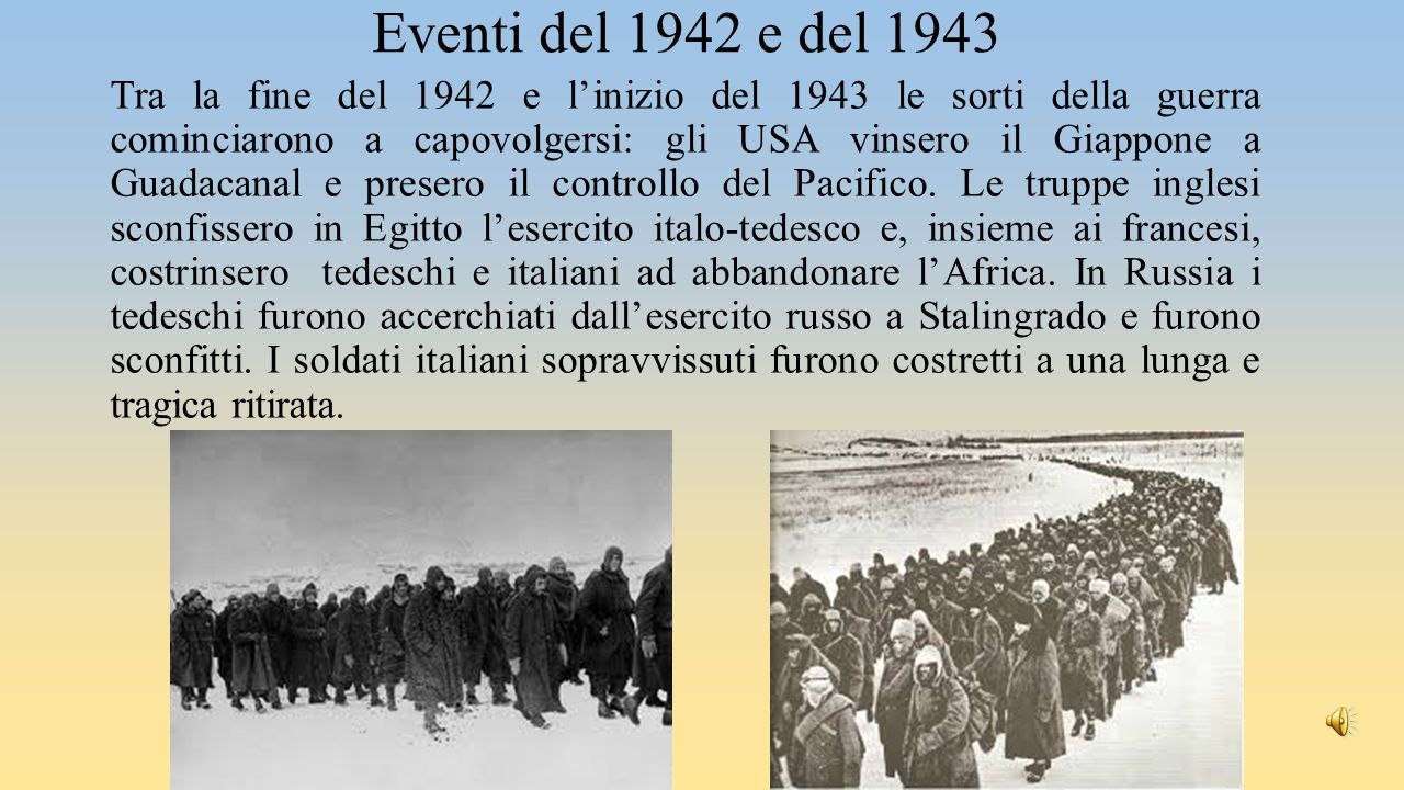 Eventi del 1942 e del 1943