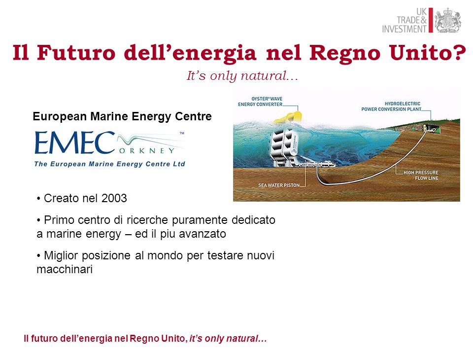 Il futuro dell'energia nel Regno Unito, it's only natural…
