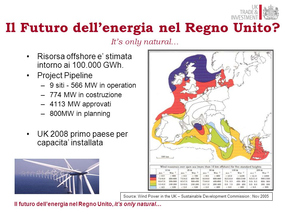 Il Futuro dell'energia nel Regno Unito It's only natural…