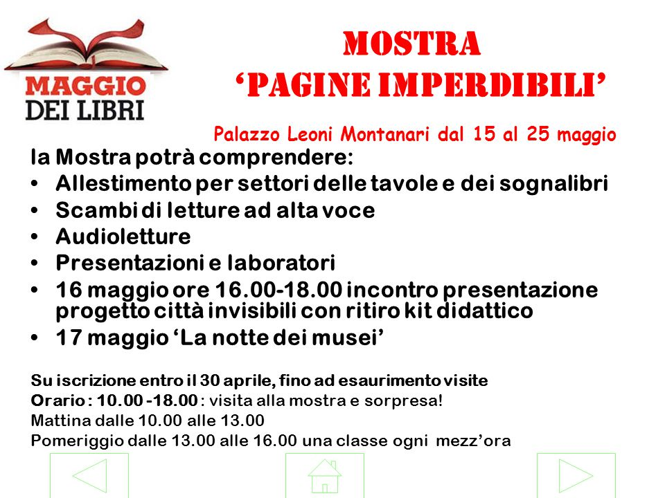 MOSTRA 'pagine imperdibili' Palazzo Leoni Montanari dal 15 al 25 maggio