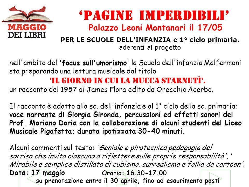 'pagine imperdibili' Palazzo Leoni Montanari il 17/05