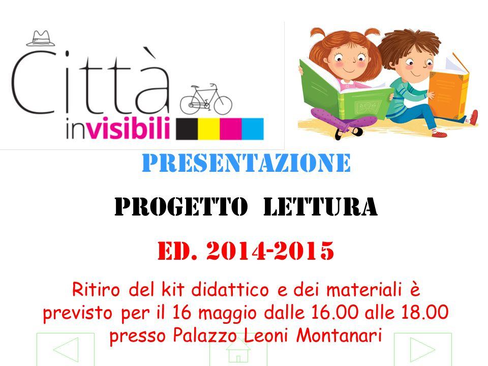 Presentazione Progetto lettura Ed. 2014-2015