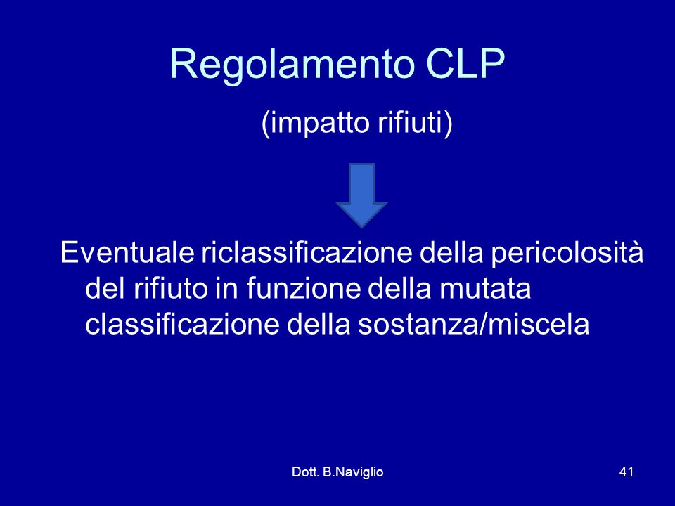 Regolamento CLP (impatto rifiuti)