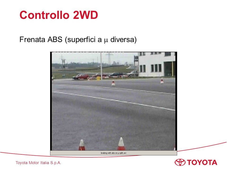 Controllo 2WD Frenata ABS (superfici a  diversa)