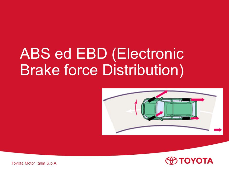 ABS ed EBD (Electronic Brake force Distribution)