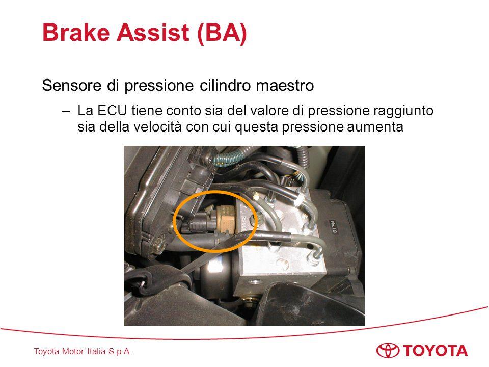 Brake Assist (BA) Sensore di pressione cilindro maestro