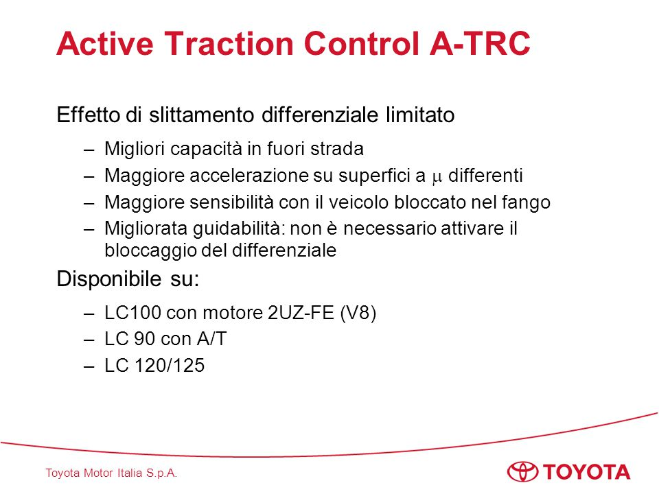 Active Traction Control A-TRC