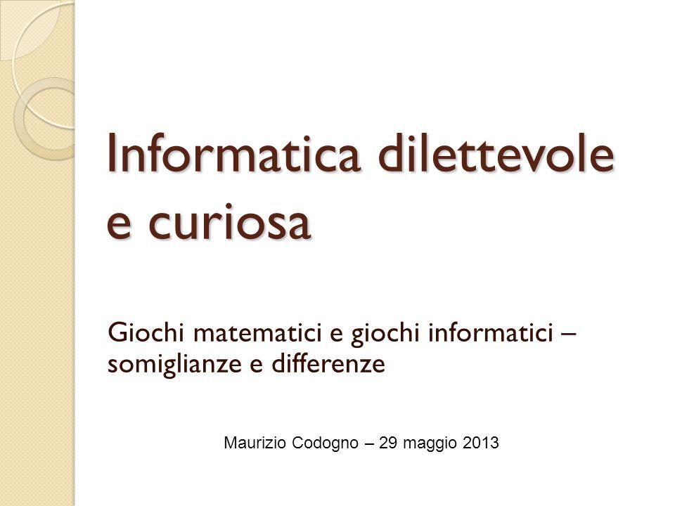 Informatica dilettevole e curiosa