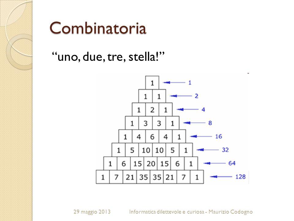 Combinatoria uno, due, tre, stella! 29 maggio 2013