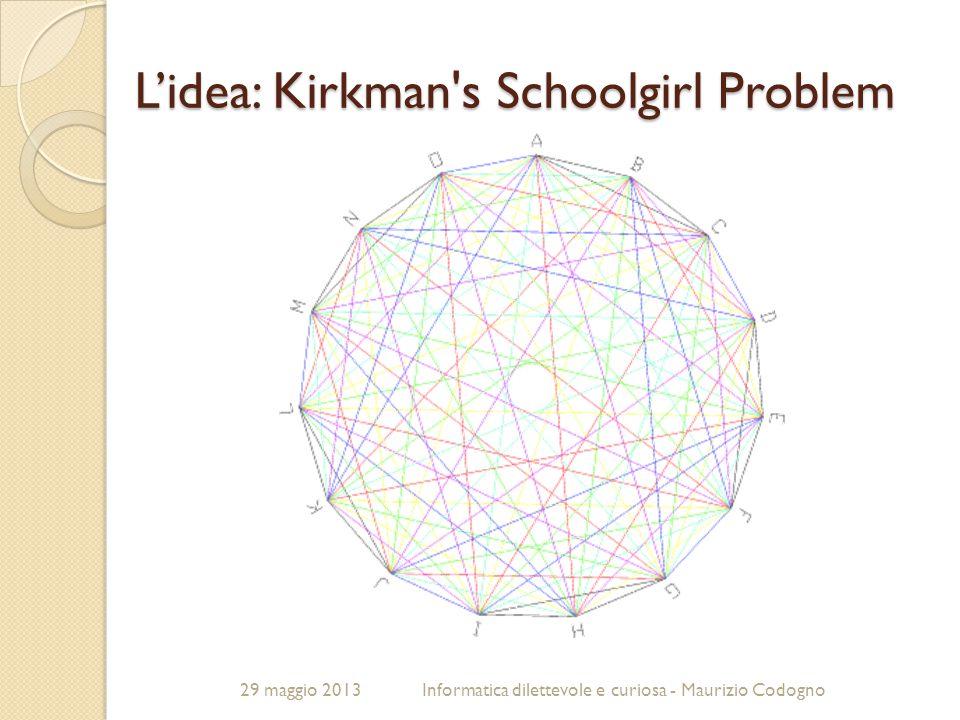 L'idea: Kirkman s Schoolgirl Problem