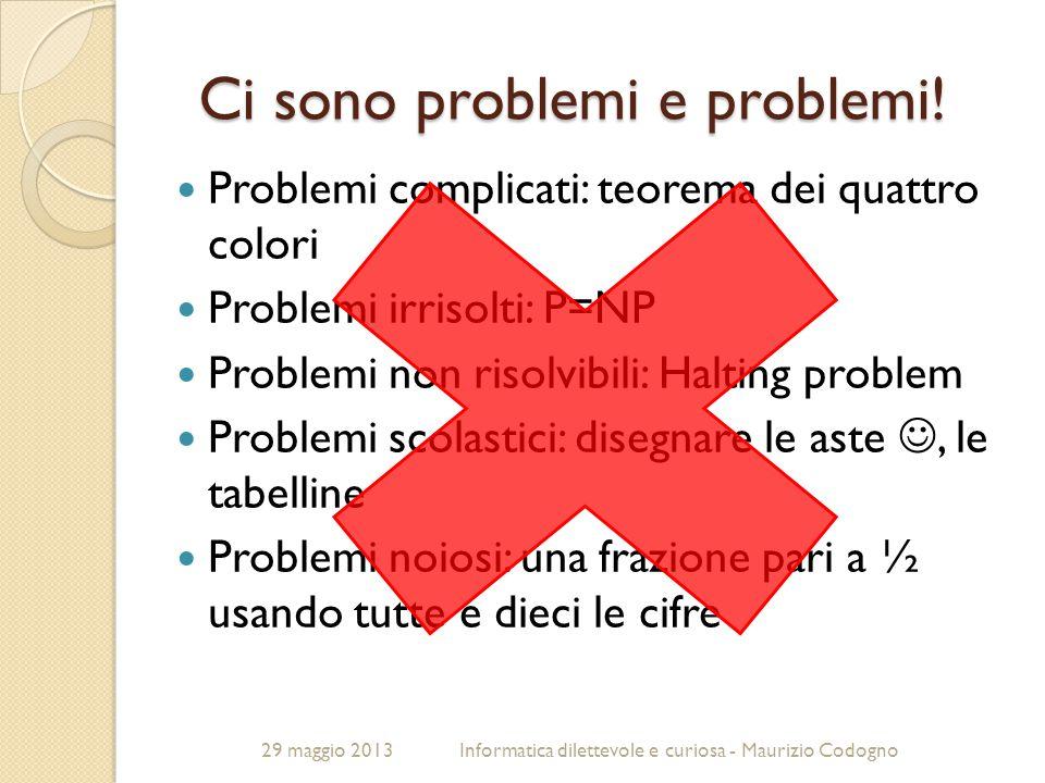 Ci sono problemi e problemi!