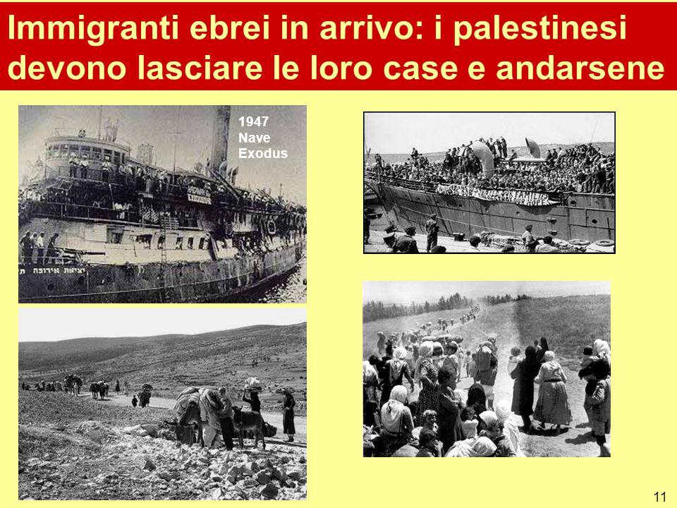 Immigranti ebrei in arrivo: i palestinesi devono lasciare le loro case e andarsene